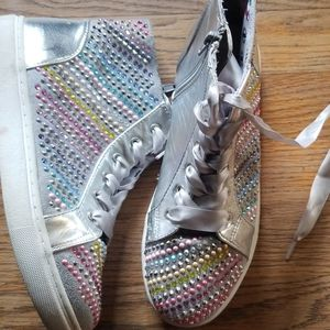 Girls Steve Madden High Top Sneakers